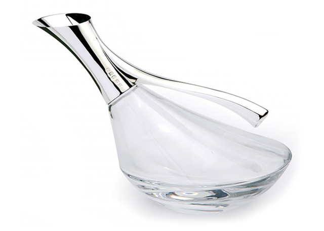 Duck decanter, silver and glass, via John Surtees and Sons
