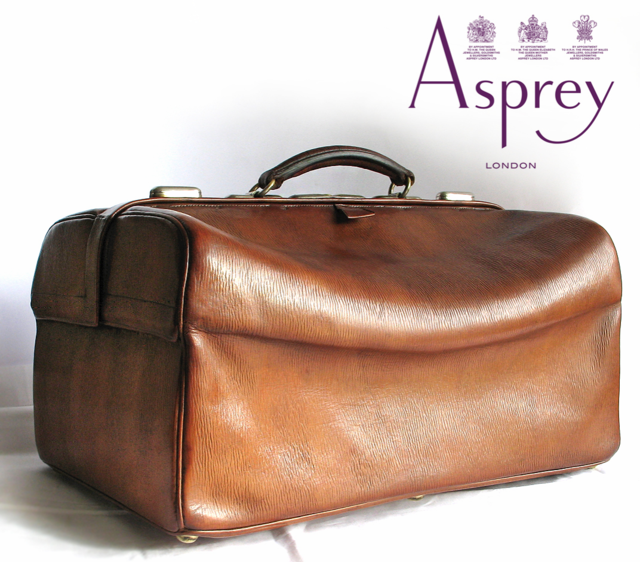 Antique Asprey and Sons-Victorian-gentleman's travelling dressing case-c.1884 - Gladstone style-vintage leather case